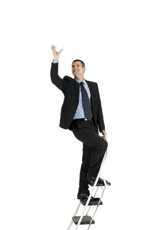 careerist: businessman on a ladder