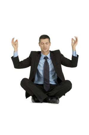 businessman practice yoga Stock Photo - 8222610