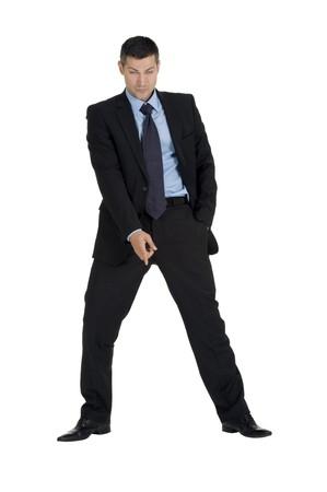 businessman means down photo