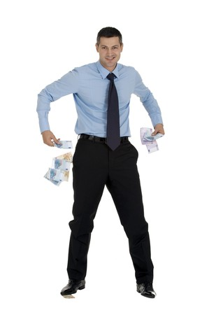 businessman with money Stock Photo - 8222622