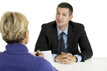 interviewing: job interview Stock Photo