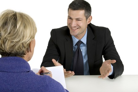 casual meeting: job interview Stock Photo