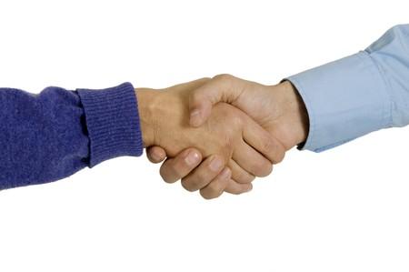careerist: handshake Stock Photo