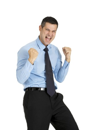 attitude: successful businessman Stock Photo