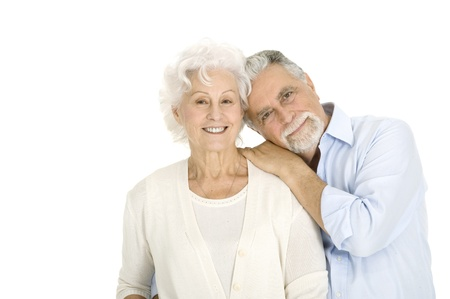 mature couple: portrait of a happy couple of elderly