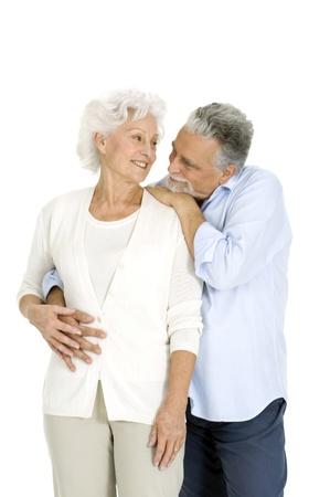 portrait of a happy couple of elderly Stock Photo - 8416174