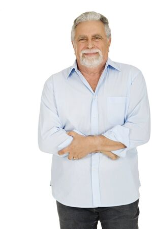 old man with stomach pain photo