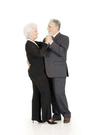 one senior: elderly couple dancing