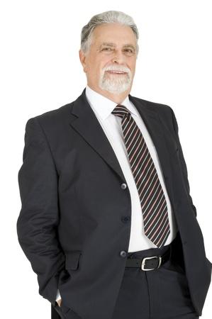 elegant elderly man photo