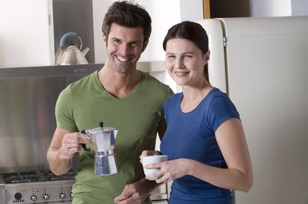 couple having breakfast in the kitchen Stock Photo - 8541559