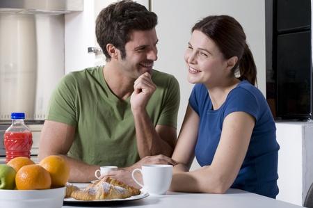 couple having breakfast in the kitchen Stock Photo - 8549943