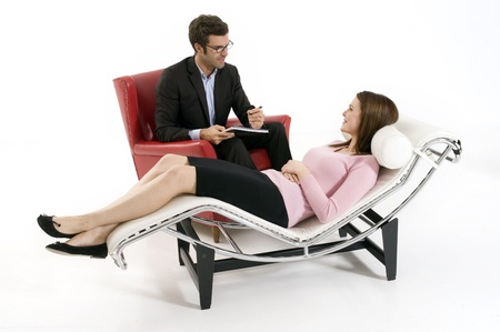 sitted: woman by the psychologist