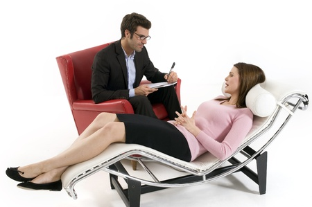 psychotherapy: woman by the psychologist