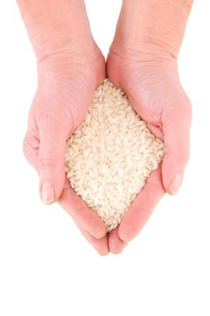 punhado: handful of rice Banco de Imagens