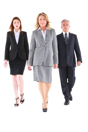 tailleur: businessman and businesswoman walking