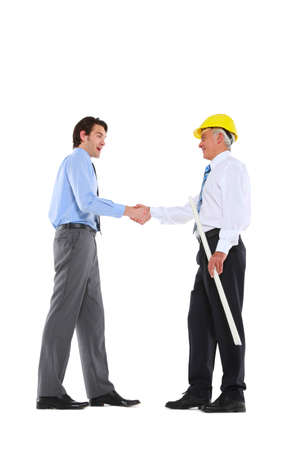 two men shaking hands photo