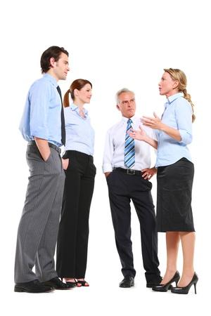 talking businessman: businessman and businesswoman talking Foto de archivo