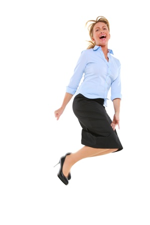 businesswoman jumping photo
