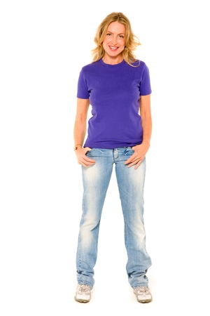 woman standing with hand in pocket
