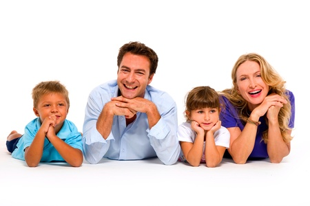 couple with two children Stock Photo - 11066481