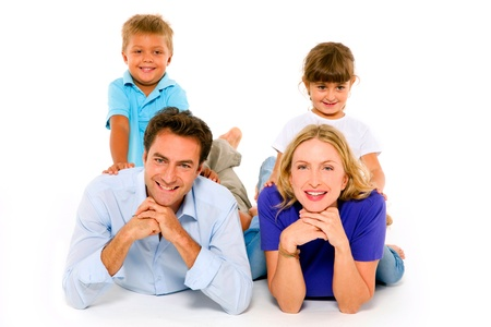 couple with two children Stock Photo - 11066511
