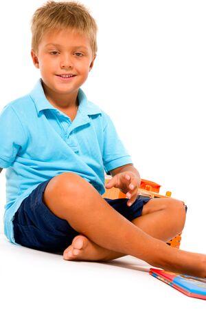 little boy playing Stock Photo - 11066491
