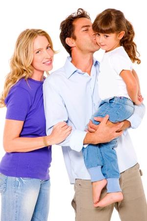 papa y mama: pareja con una hija