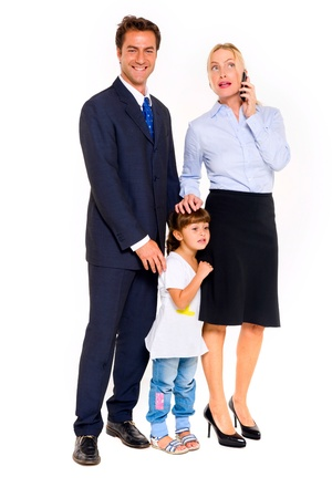 family with one child photo