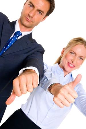 businessman and businesswoman Stock Photo - 11558710