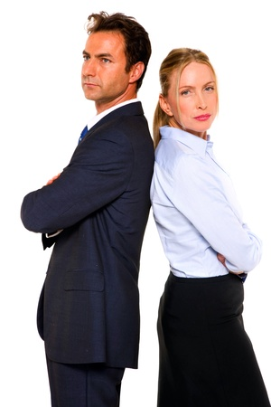 businessman and businesswoman photo
