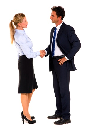 business attire: businessman and businesswoman