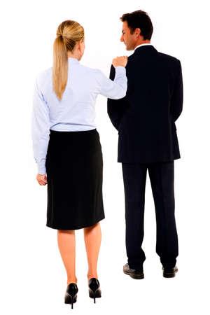 man 40 50: businessman and businesswoman