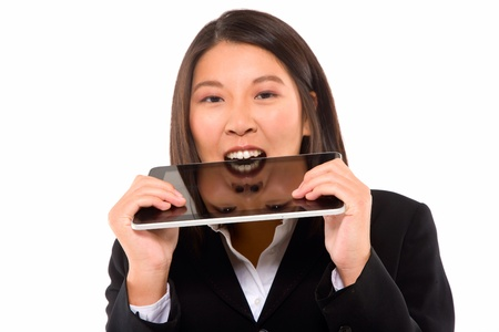 asian businesswoman with tablet Stock Photo - 11556958