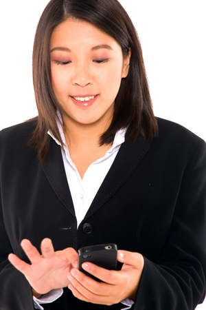 asian businesswoman with mobile photo