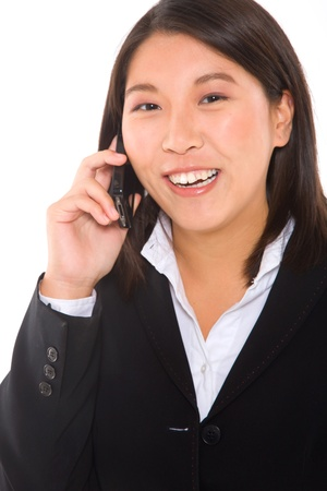 asian businesswoman with mobile Stock Photo - 11556963