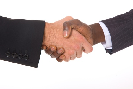 meet and greet: businessmen shaking hands