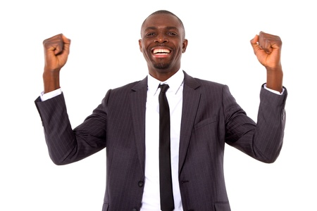 businessman rejoices photo