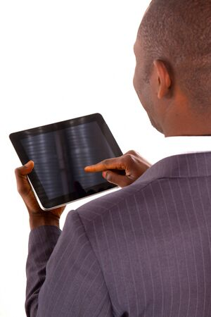 businessman with tablet photo