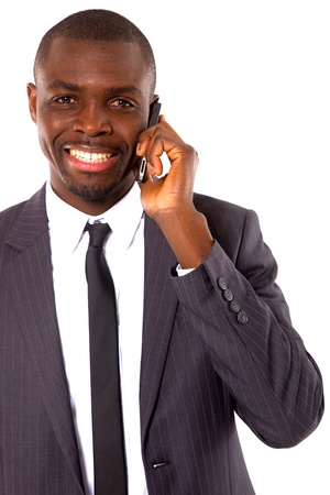 businessman with mobile photo