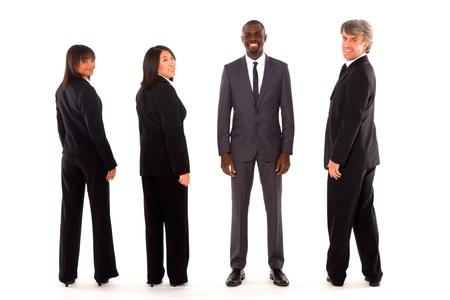 multi-ethnic team photo