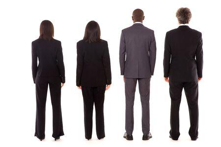 čtyři lidé: team zezadu Reklamní fotografie