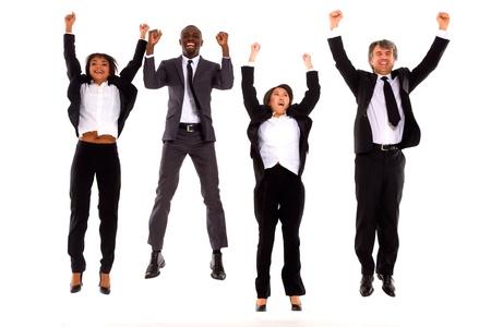 multi-ethnic team rejoiced Standard-Bild