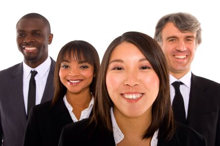 mixed races: multi-ethnic team Stock Photo