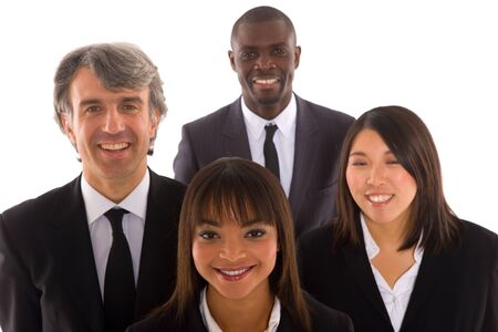 ethnic diversity: multi-ethnic team Stock Photo
