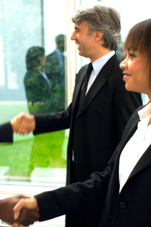 working team shaking hands Stock Photo - 11558848