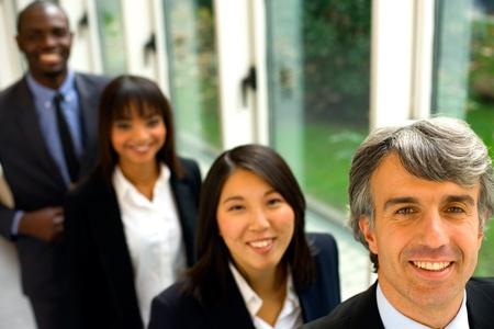asian american: multi-ethnic team Stock Photo