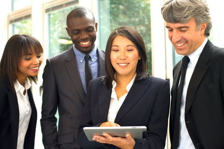 african business woman: multi-ethnic team Stock Photo