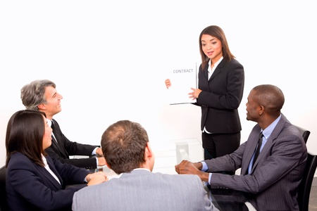 multi-ethnic team during a meeting Stock Photo - 11558844