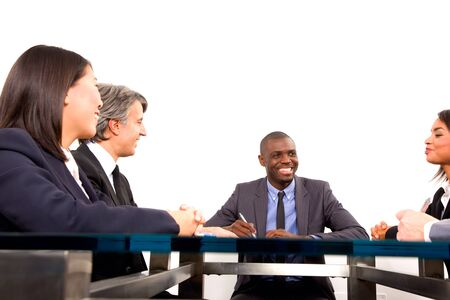 multi-ethnic team during a meeting Stock Photo - 11558776