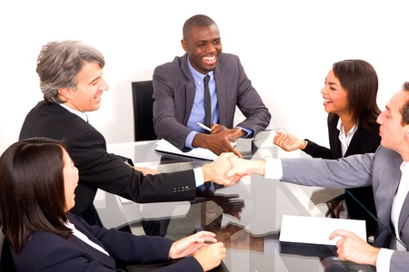 multi-ethnic team during a meeting Stock Photo - 11558873